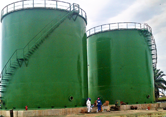 Storage tanks - Energy Works Technology (EWT). Storage tanks and associated pipe works, and structural steel works.